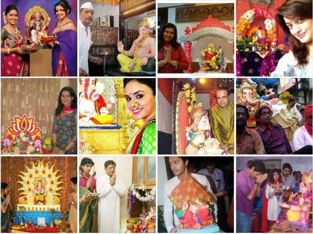 Marathi Celebs ganesha