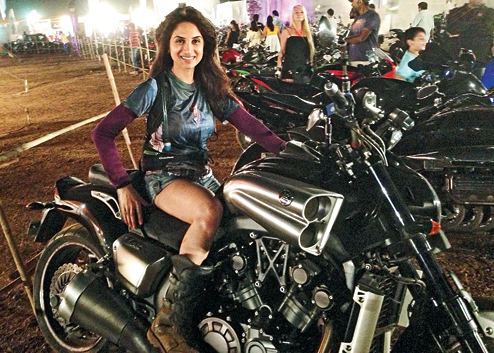 Smita Gonkar is a Biker
