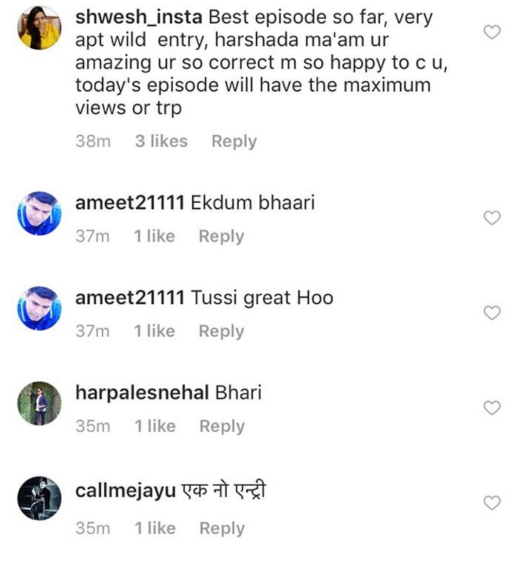 harshada khanvilkar Insta Reaction