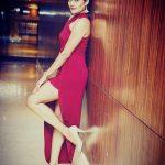 Namrata Jadhav In Red Gown