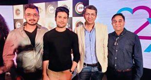 Bollywood director Kunal Kohli , Rajeev Khandelwal , Arjun Singhh Baran and Kartik Nishandar from GSEAMS
