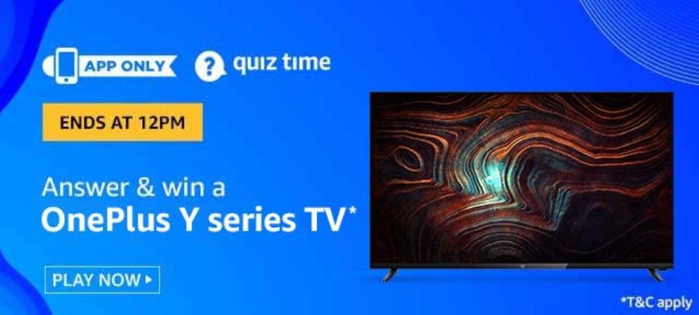 Amazon OnePlus Y Series TV Quiz Answers