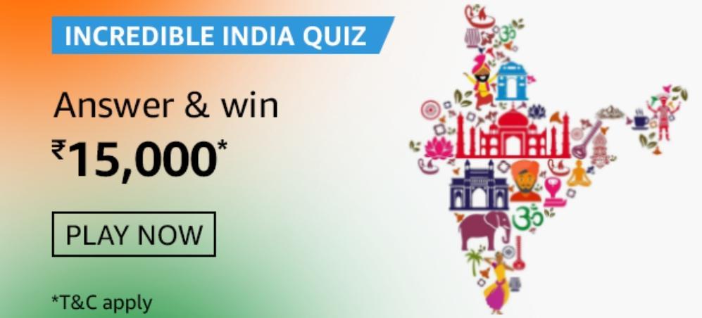 Amazon Incredible India Quiz