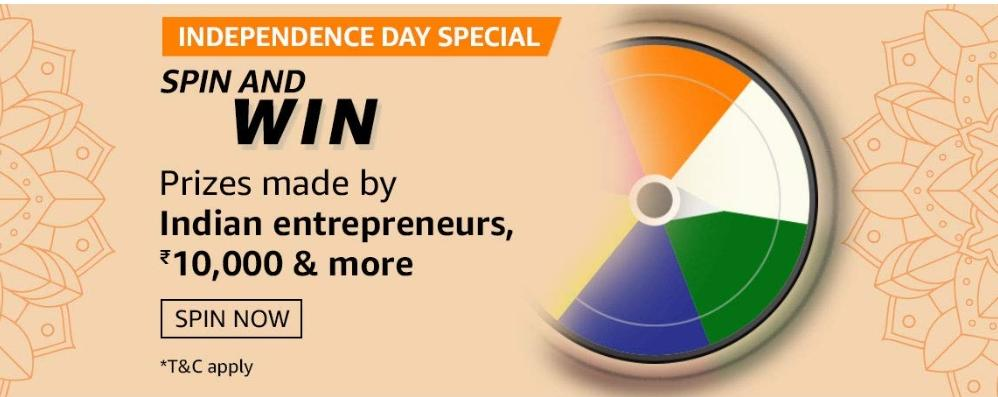 AmazonIndependence Day Spin And Win Quiz